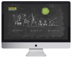 Création et réalisation webdesign de la page coming soon de l'agence d'evenementiel Blacklemon