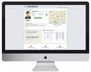 Création et réalisation webdesign du site de mondocteur.fr