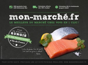 monmarché.fr création et réalisation d'affiche 4X3 pour le métro