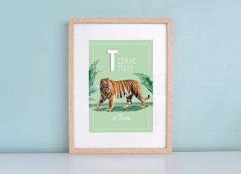 Affiche personnalisée animaux Marguerite Lavayssière